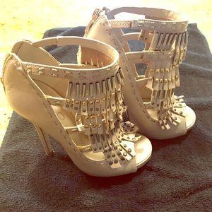 ALDO brand heels with fringe